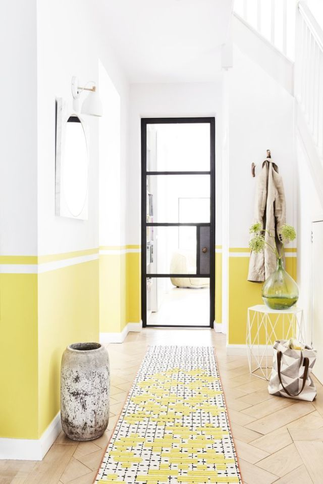 ... hallway decorating dilemmas. Style inspiration Sunshines shades - yellow. Styled by Lorraine Dawkins. & 18 Best Hallway Decorating Ideas - Colour Furniture Flooring and ...