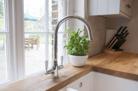 Country house - wooden kitchen worktop