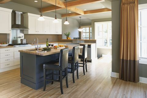 Beautiful kitchen with kitchen island