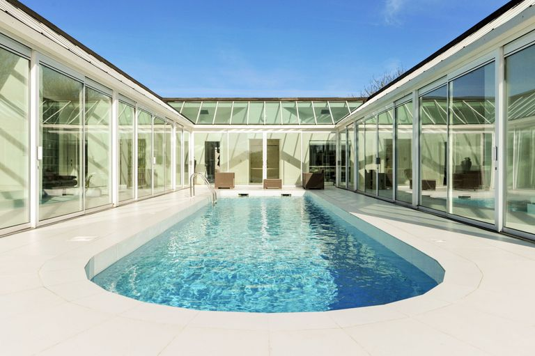 U Shaped Home The Bank House Boasts Illuminated Swimming Pool Property For Sale