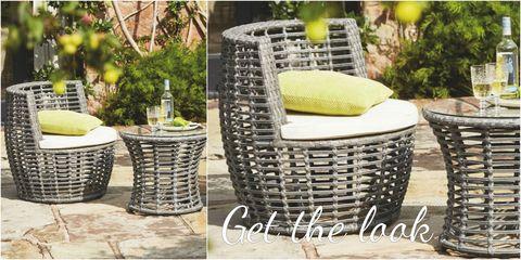 Kaleidoscope rattan furniture collage - Get the look