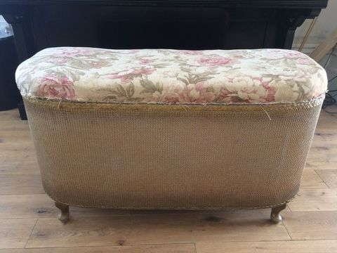 Amazing 1960S Ottoman Is Completely Transformed With Handpainted Machost Co Dining Chair Design Ideas Machostcouk