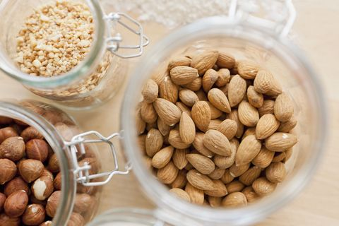 Here's a cool secret: The freezer actually makes nuts last longer because it keeps the oils in them from going rancid. That's good news for all of us who like to buy them in bulk. Parse out whatever nuts you think you will eat soon and freeze the rest. They thaw quickly on your kitchen counter.   <!--EndFragment-->