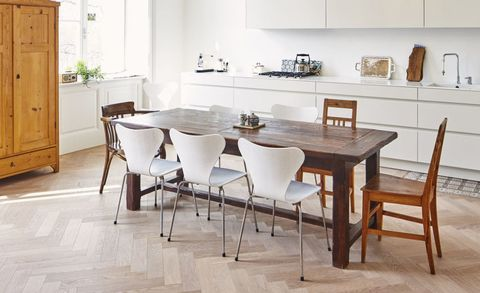 Kitchen With Dining Table 5 steps to creating a scandinavian kitchen modern kitchen with dining table in a refurbished old building workwithnaturefo