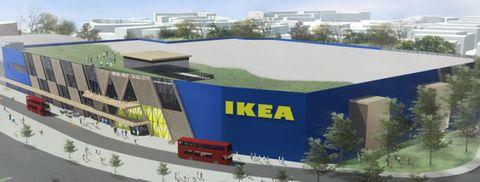 Illustration of Ikea's £100 million Greenwich store