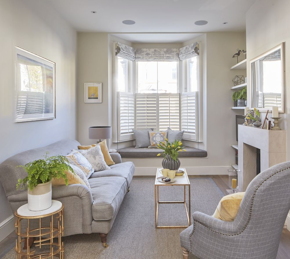 Multi purpose living room functions as efficient home office