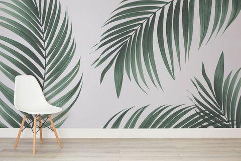 Tropical palm leaf print wallpaper - Murals Wallpaper