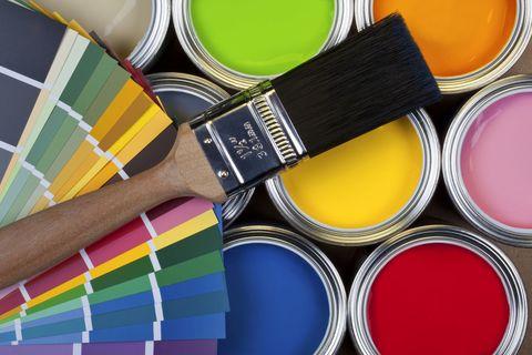 Paint colours and colour chart