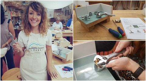 Plumbing workshop at The Goodlife Centre - collage