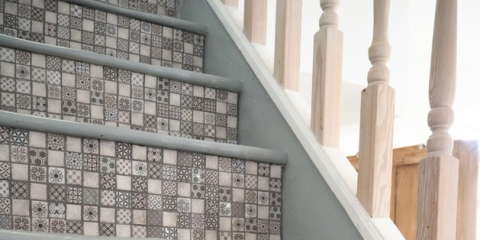 Welovehome Blog S Diy Project Using Tile Giant Vintage White Mosaics