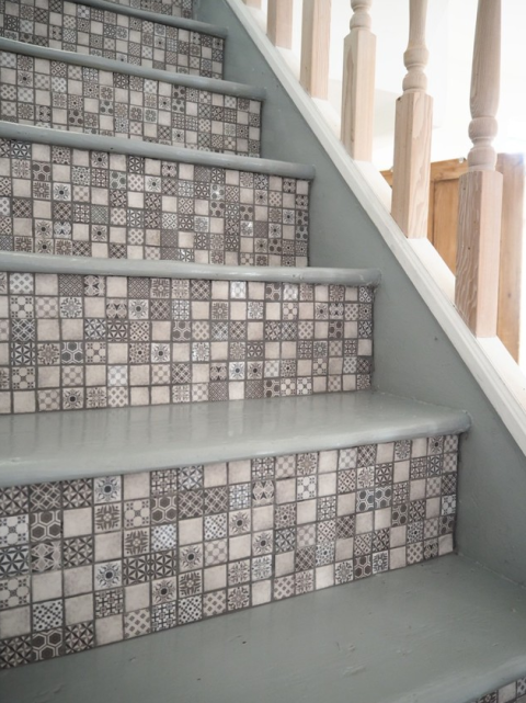 Captivating WeLoveHome Blogu0027s DIY Project Using Tile Giantu0027s Vintage White Mosaics
