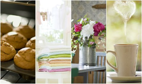 The nation's favourite household smells include baked goods, flowers, laundered clothes and brewed coffee
