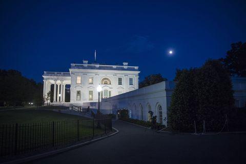 Night, Sky, Blue, Landmark, Light, Architecture, Lighting, Building, House, Palace,