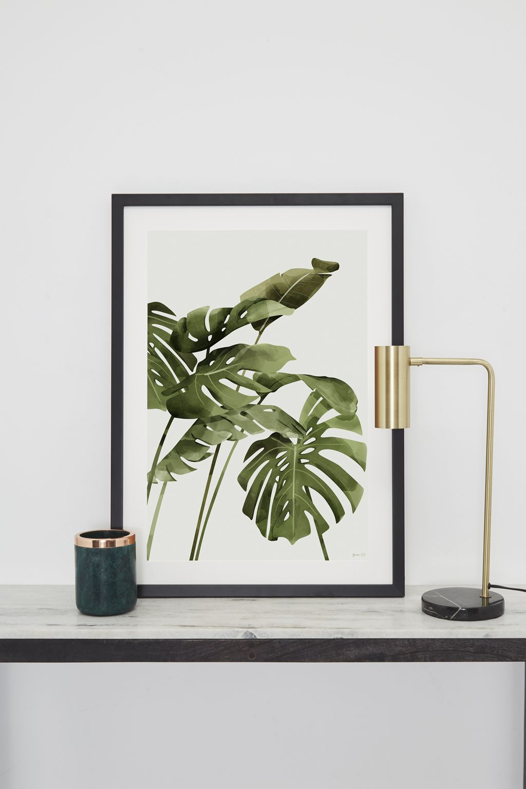French Connection palm print artwork