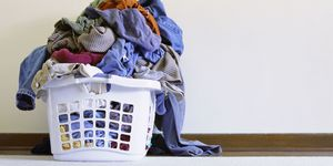 Overflowing Laundry in Basket