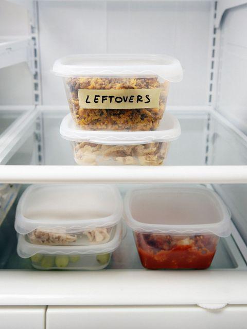 Leftovers In Fridge