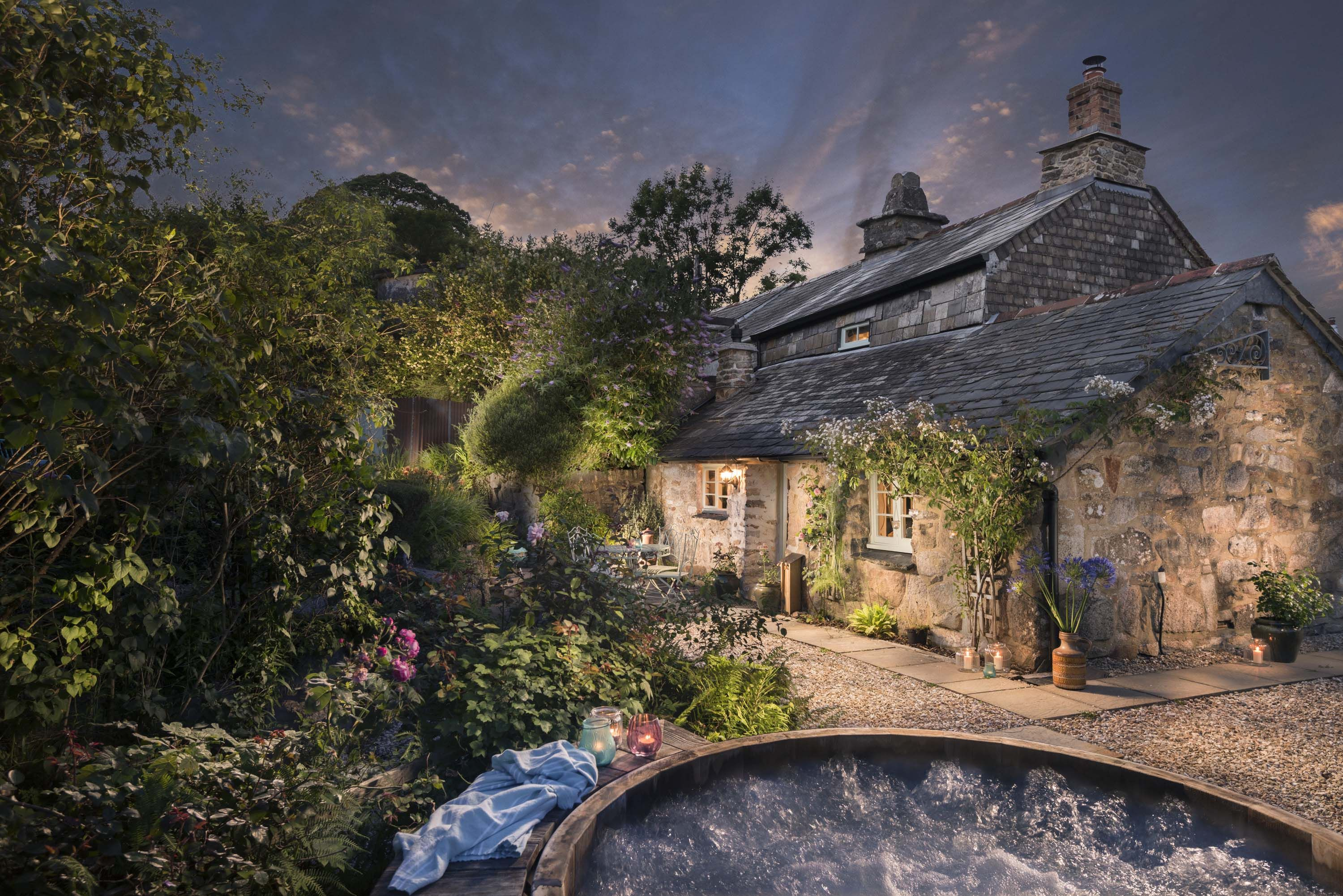 valley cornwall trevillett and house cottages mill rocky tintagel
