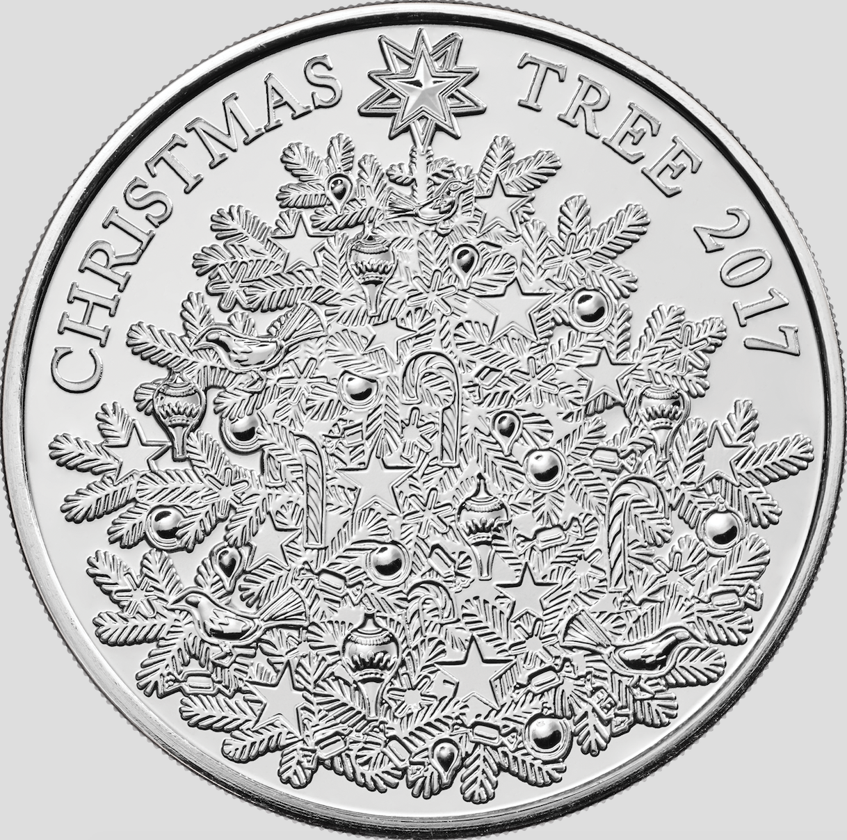 The Royal Mint Unveils Silver £5 Christmas Tree Coin 2017 - Royal ...