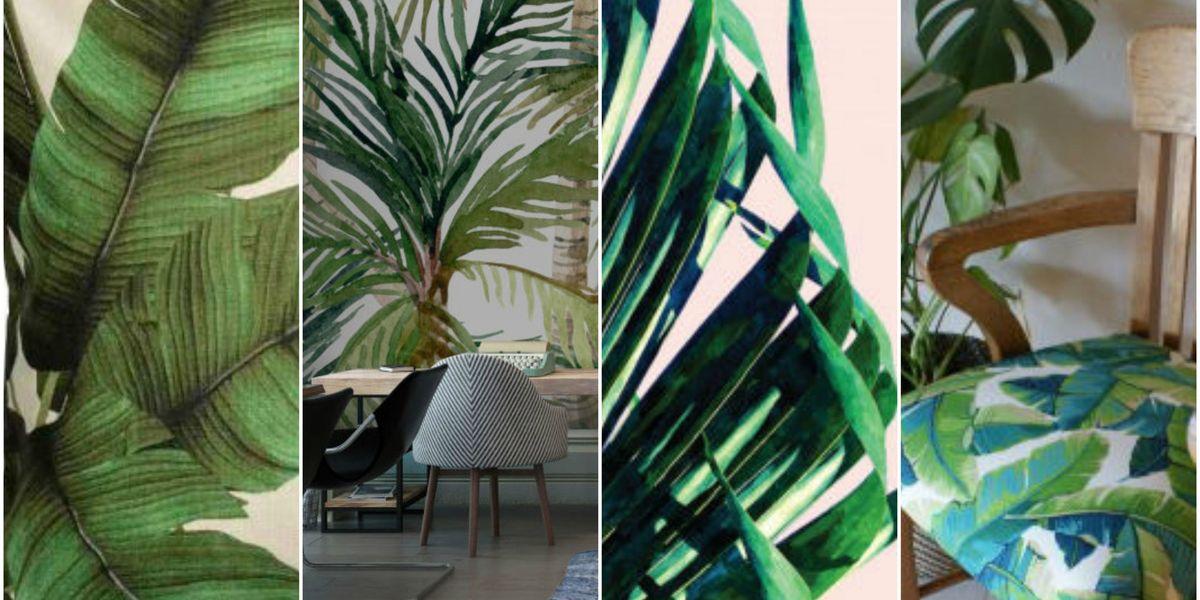 Palm Tree Print Trend 18 Tropical And Botanical Interior