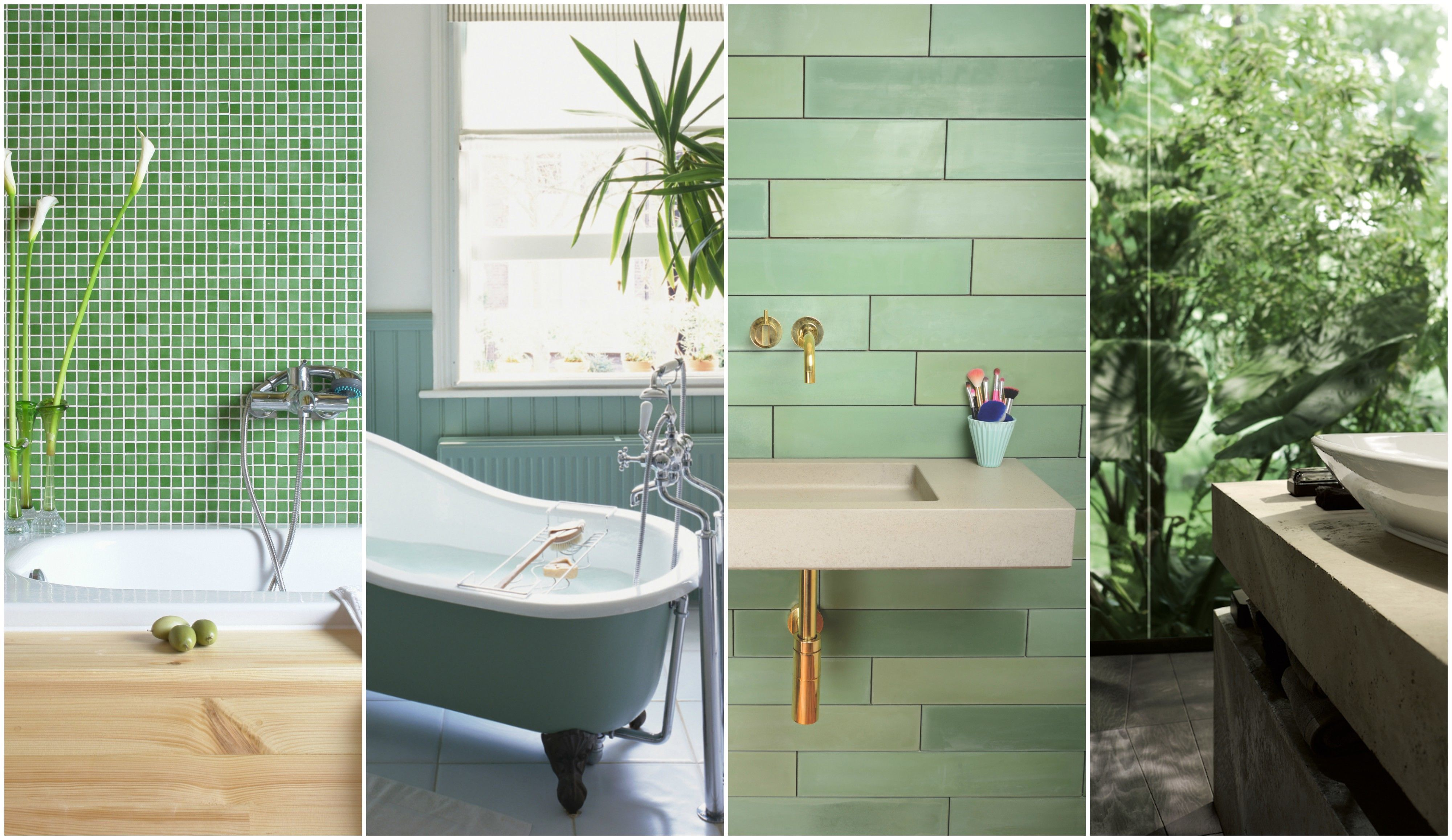 7 green bathroom decor ideas designs furniture and accessories rh housebeautiful com small bathroom styles and designs
