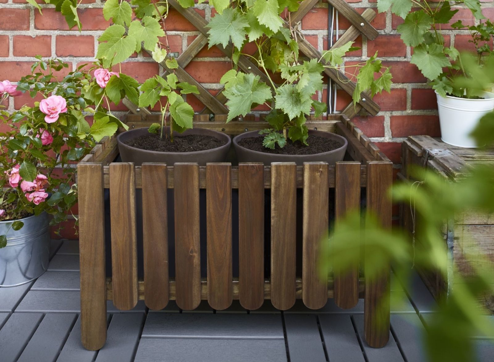 This Is The Best Way To Make A Long Flower Trough For Your Garden Or Patio.