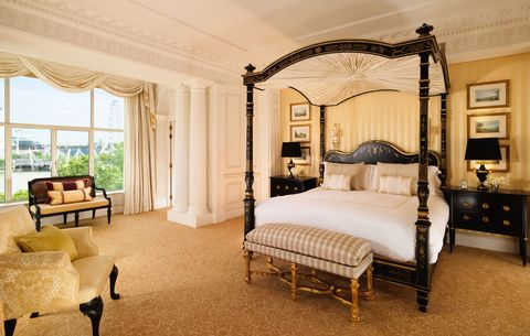 The Savoy Hotel guest bedroom, London