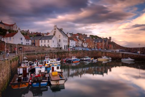 "<p>The historic fishing village of Crail used to be an important sea port, famed for exporting fish, salt, mutton and <a href=""http://www.housebeautiful.co.uk/decorate/news/g131/inside-wool-bnb-london/"" data-tracking-id=""recirc-text-link"">wool</a> to mainland Europe. Today, its cobbled, winding streets and miniature harbour make it a popular tourist destination.</p>"