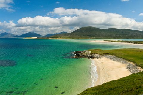 <p>At first glance, Harris' remote beach could be in the Caribbean, thanks to its turquoise, puresea and expansive, sandy shores. Only its chilly climes give its Northern location away.</p>