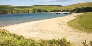unst shetland island beach