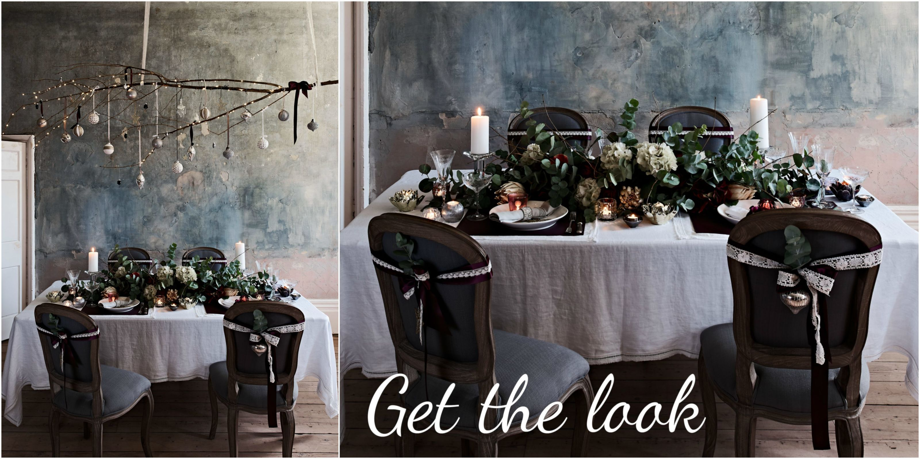 Brissi dining table setting & How to create a stylish gothic table setting for Christmas