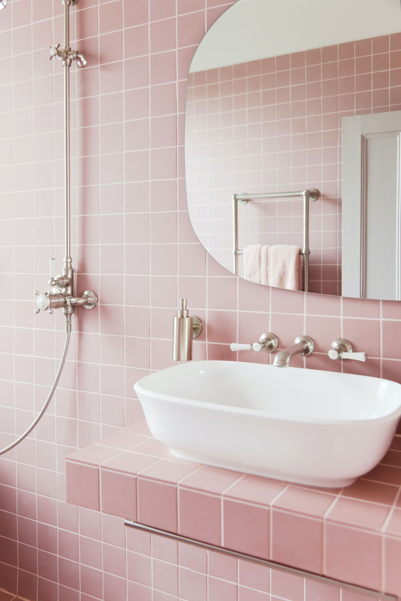 Bon 2LG Studio   Pink Bathroom Look: Tile Giant Victorian Pink Tiles And  Products From Victoria