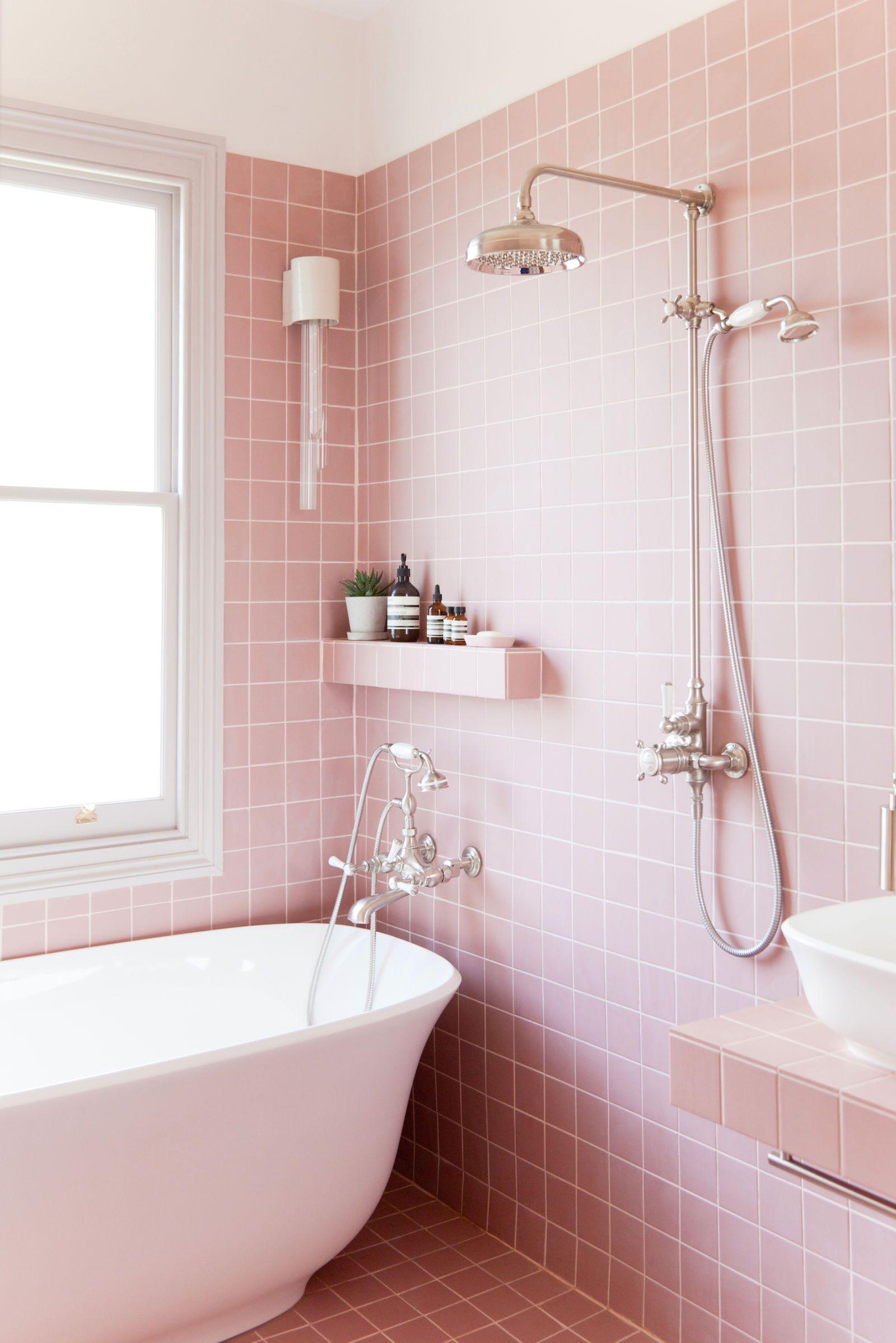 Attirant 2LG Studio   Pink Bathroom Look: Tile Giant Victorian Pink ...