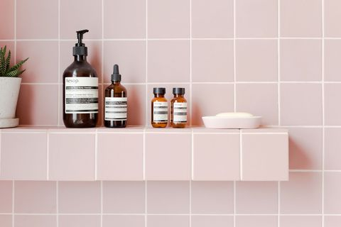 2lg Studio Pink Bathroom Look Tile Giant Victorian Tiles And Products From Victoria