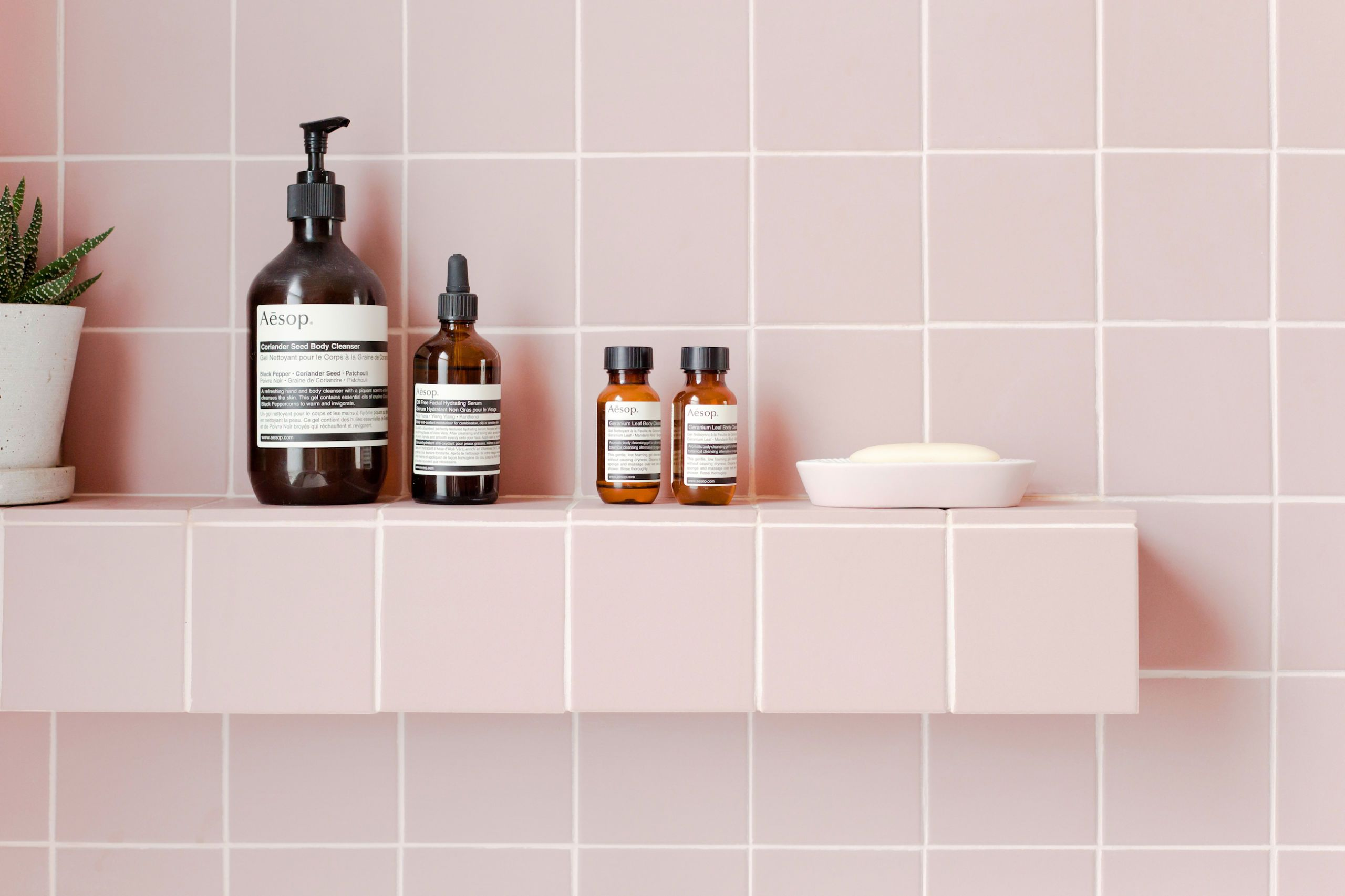 Charmant 2LG Studio   Pink Bathroom Look: Tile Giant Victorian Pink Tiles And  Products From Victoria