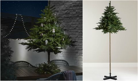 9ft Christmas Tree.John Lewis Is Selling A Pre Lit Outdoor Parasol Christmas