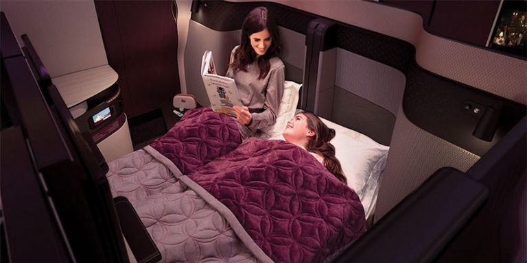 You can now fly business class on a double bed, thanks to Qatar Airways