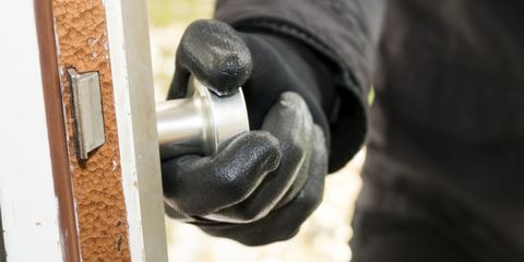 burglar alarm hand