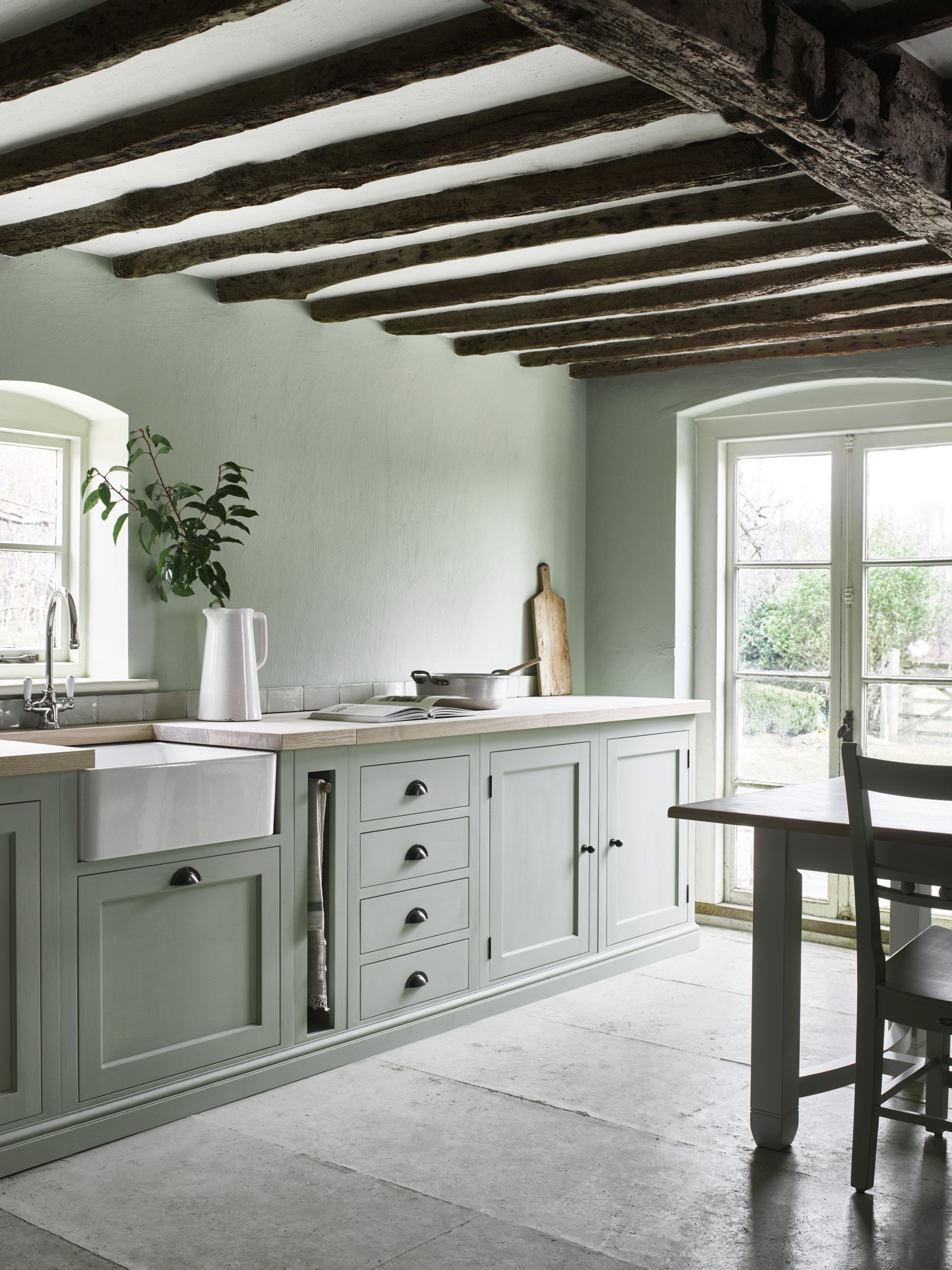 Neptune Henley Kitchen hand-painted in Sage from £14000 & 7 Ways To Create A Country Kitchen Fit For 2018 - Kitchen Design Ideas