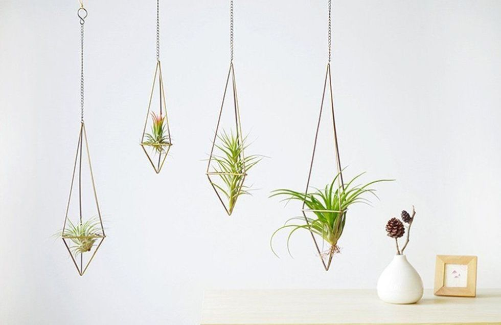 Hanging Baskets Garden Supplies Hanging Wicker Basket With Handle Rattan Flower Plant Vase Wall Hallway Decoration Plant Hanger Container Garden Pot