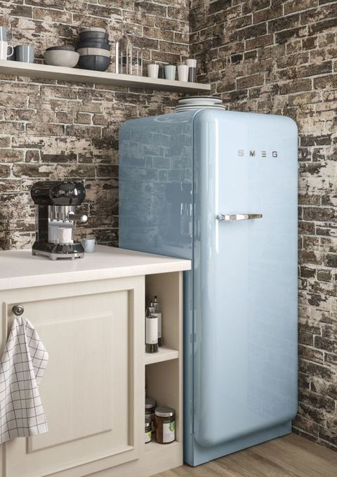 SMEG pastel blue fridge