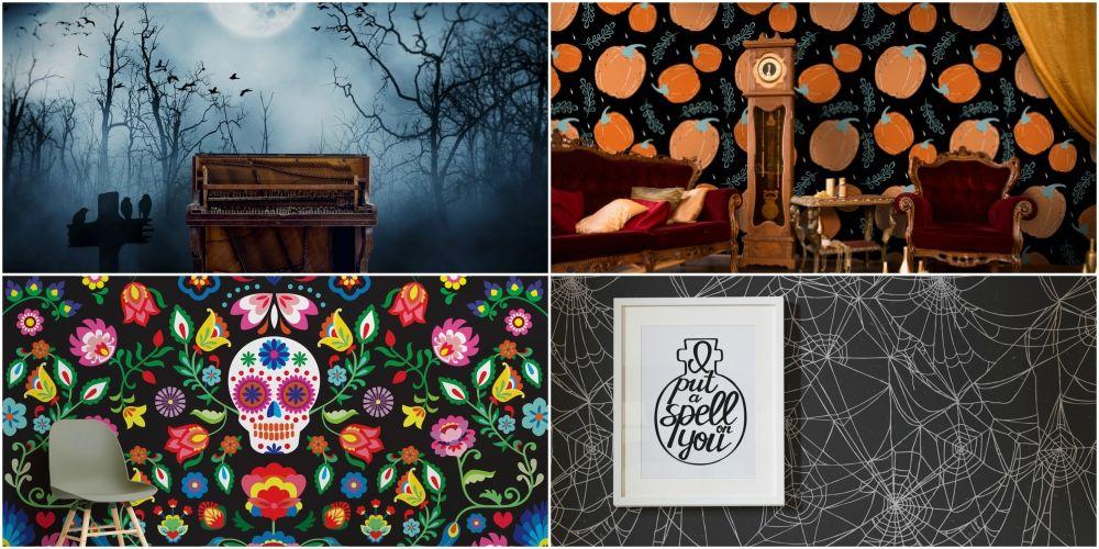9 Best Temporary Halloween Wall Murals Halloween Ideas