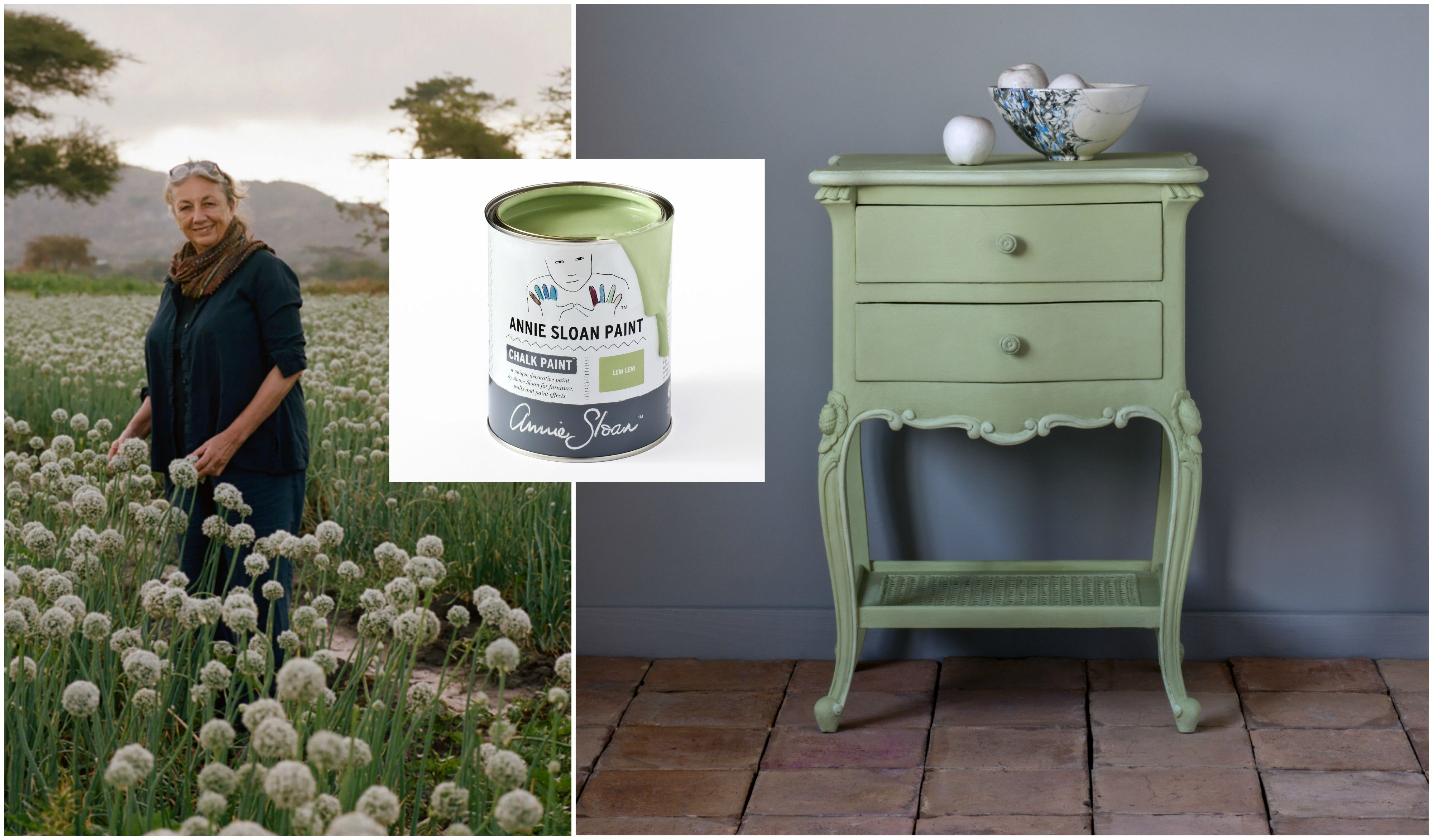Annie Sloan And Oxfam Unveil New Paint Colour Lem It S The Of Hope