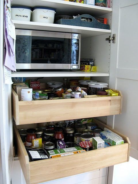 """<p>Don't let your jars of beans and tomatoes get lost in the back of your cabinet. These genius&nbsp;rolling drawers&nbsp;from IKEA make it so you can actually find what you need when you're whipping up dinner.<span class=""""redactor-invisible-space"""" data-verified=""""redactor"""" data-redactor-tag=""""span"""" data-redactor-class=""""redactor-invisible-space""""></span><br></p><p><em data-redactor-tag=""""em"""" data-verified=""""redactor""""><a href=""""http://www.ikeahackers.net/2010/08/customized-kitchen-pantry.html"""" target=""""_blank"""" data-tracking-id=""""recirc-text-link"""">Get the tutorial at IKEA Hackers »</a></em></p>"""