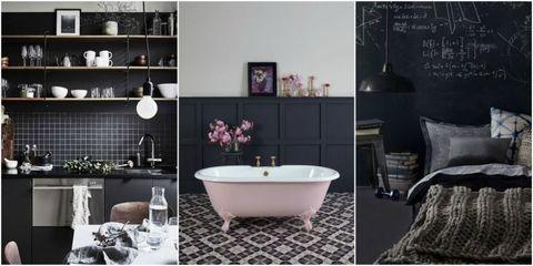 Black interiors inspiration - Pinterest trend
