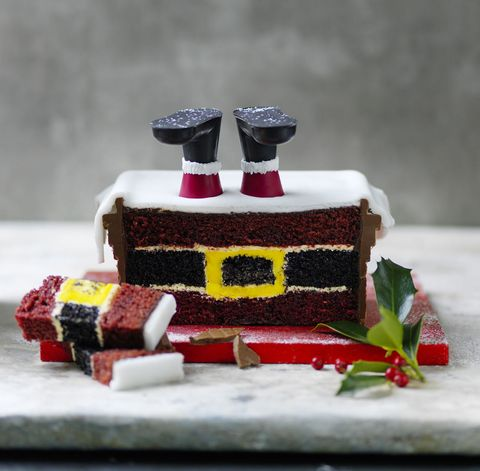 Santa Stuck in The Chimney Cake, Marks & Spencer