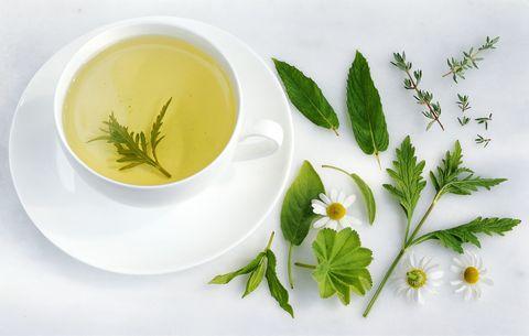 Cup of verbena herb tea