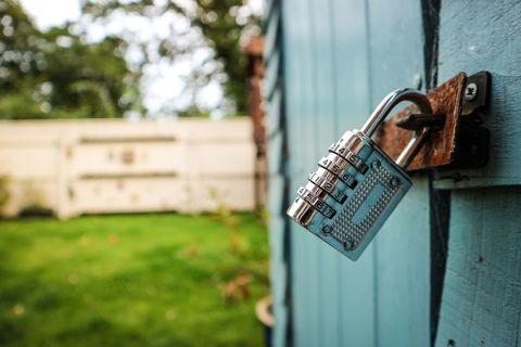 Shed door locked