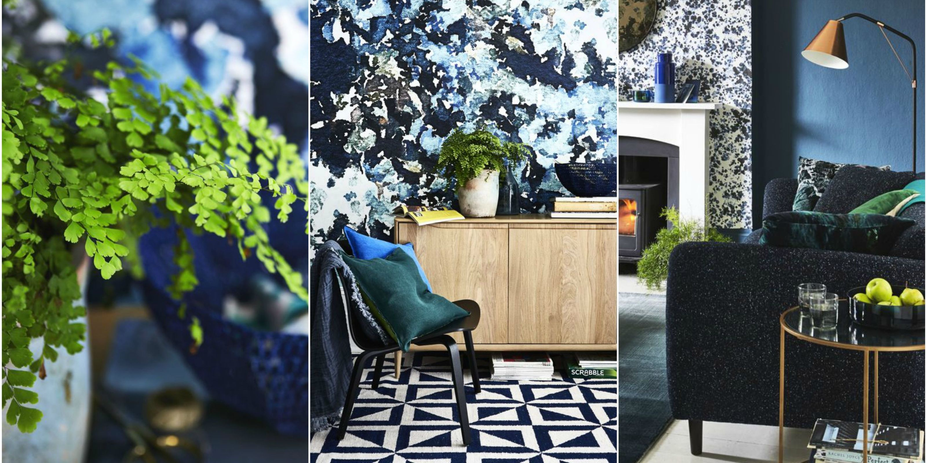 Style Inspiration: Cobalt, Sapphire And Emerald Hues   Blues And Greens.  Styling By