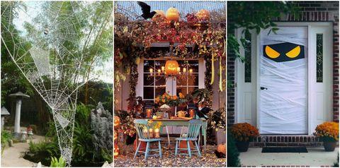 halloween garden and front door ideas