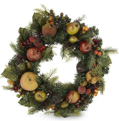 Fruit and leaf wreath, Selfridges